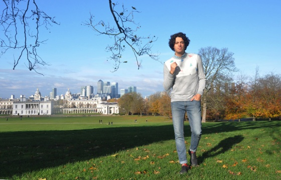 Fitting room, Greenwich Park, London, UK, Canary Warf, Look book, Leo, PimPamMate sweater, trends, fashion blogger, jeans, denim shirt, black shoes, Zara, H&M, Primark, wolf print socks, PimPamMate